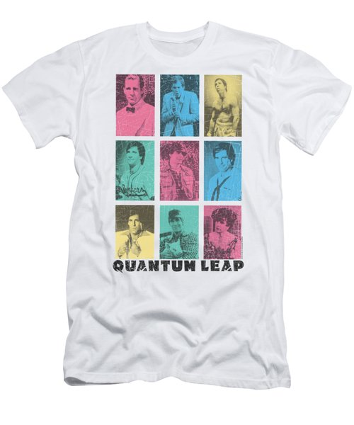 Quantum Leap - Faces Of Sam Men's T-Shirt (Athletic Fit)