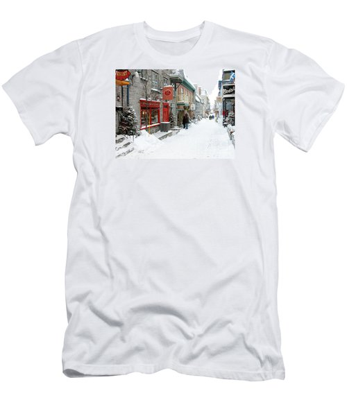 Quebec City In Winter Men's T-Shirt (Slim Fit) by Thomas R Fletcher