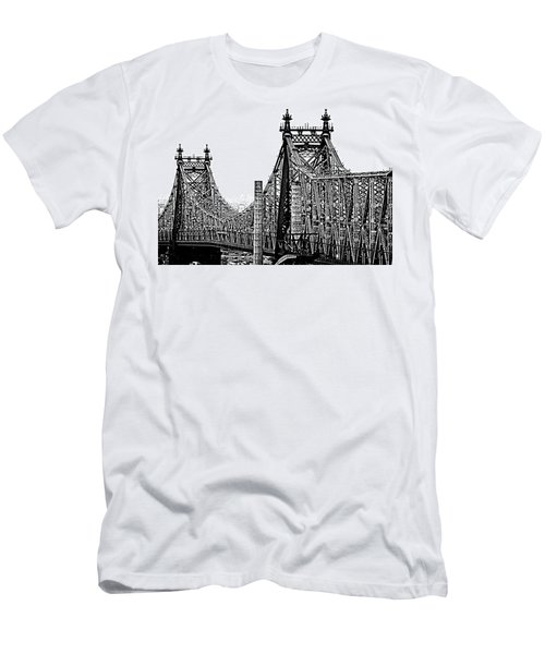 Queensborough Or 59th Street Bridge Men's T-Shirt (Slim Fit) by Steve Archbold