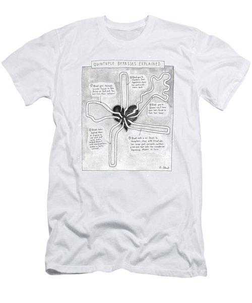 Quintuple Bypasses Explained Men's T-Shirt (Athletic Fit)