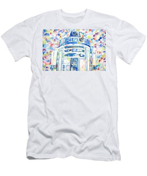R2-d2 Watercolor Portrait.1 Men's T-Shirt (Athletic Fit)