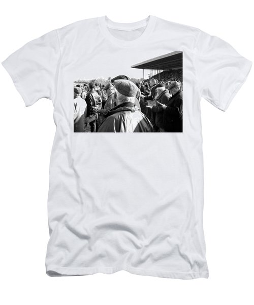 Men's T-Shirt (Slim Fit) featuring the photograph Race Day by Suzanne Oesterling