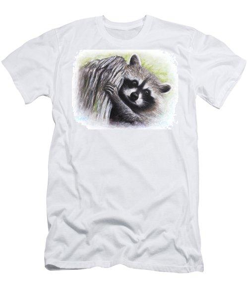 Raccoon  Men's T-Shirt (Slim Fit) by Patricia Lintner