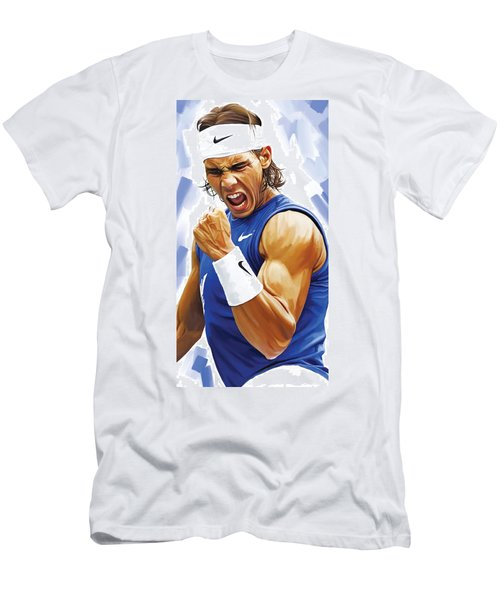 Rafael Nadal Artwork Men's T-Shirt (Slim Fit)