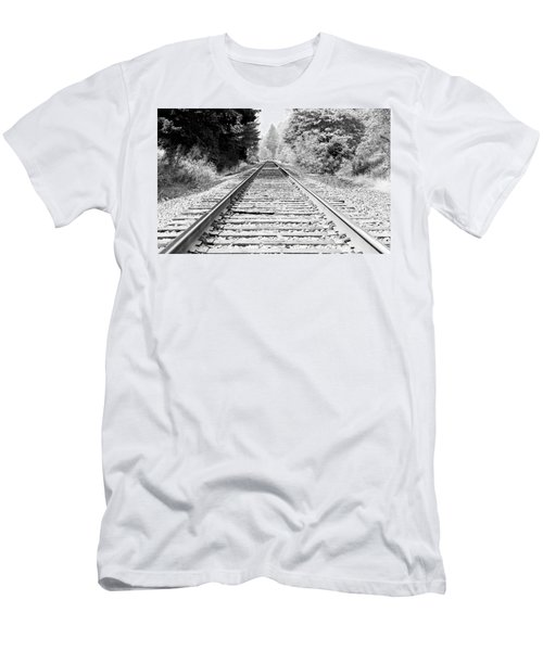 Railroad Tracks Men's T-Shirt (Athletic Fit)