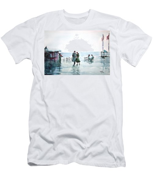 Men's T-Shirt (Slim Fit) featuring the painting Rain Serenad - Moments Of Life... by Faruk Koksal