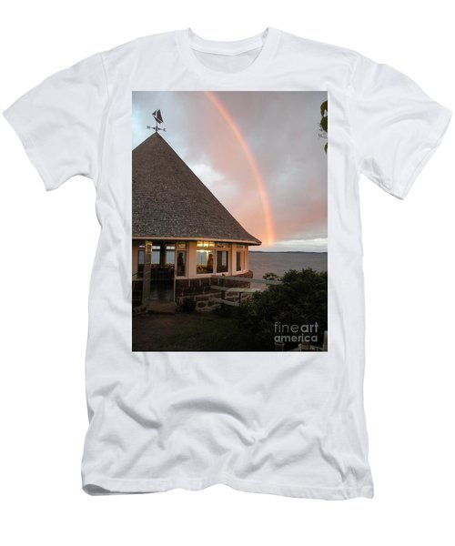 Rainbow At The Bath House Minister Island Nb Men's T-Shirt (Athletic Fit)
