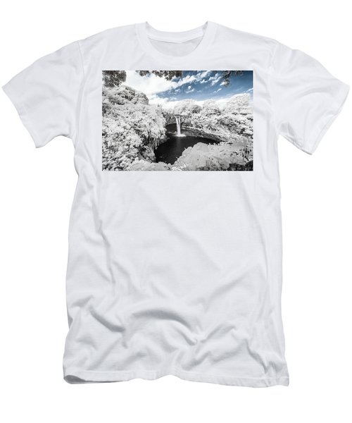 Rainbow Falls In Infrared 3 Men's T-Shirt (Athletic Fit)