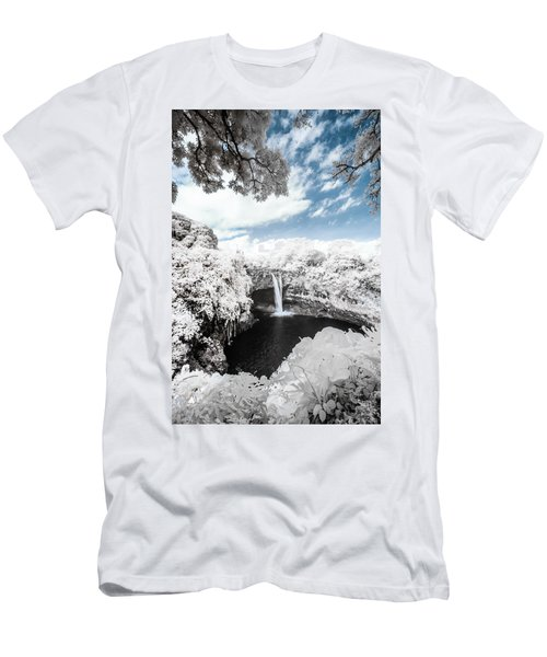 Rainbow Falls In Infrared 4 Men's T-Shirt (Athletic Fit)