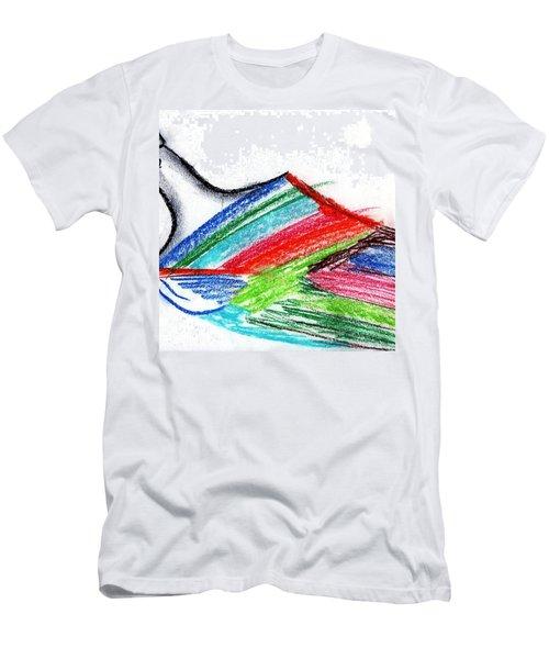Rainbow Paintbrush Men's T-Shirt (Slim Fit) by Dan Twyman