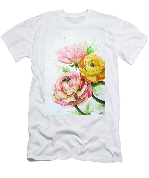 Ranunculus Flowers Men's T-Shirt (Athletic Fit)