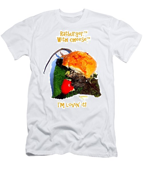 Ratburger With Cheese Men's T-Shirt (Athletic Fit)