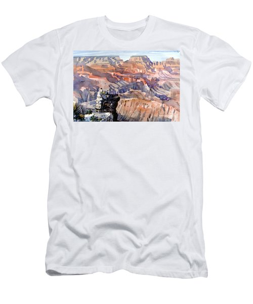 Men's T-Shirt (Slim Fit) featuring the painting Ravens by Donald Maier