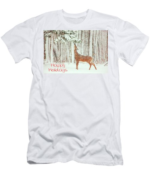 Reach For It Happy Holidays Men's T-Shirt (Athletic Fit)