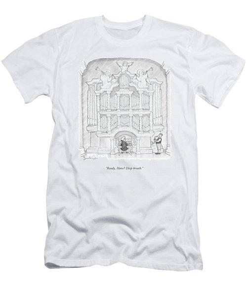 Ready, Hans? Deep Breath Men's T-Shirt (Athletic Fit)