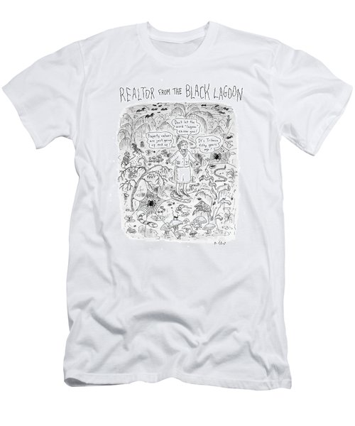 'realtor From The Black Lagoon' Men's T-Shirt (Athletic Fit)