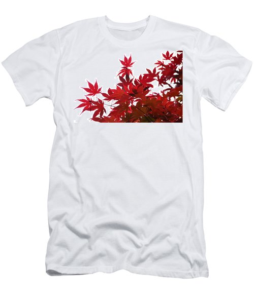 Red And White Men's T-Shirt (Athletic Fit)