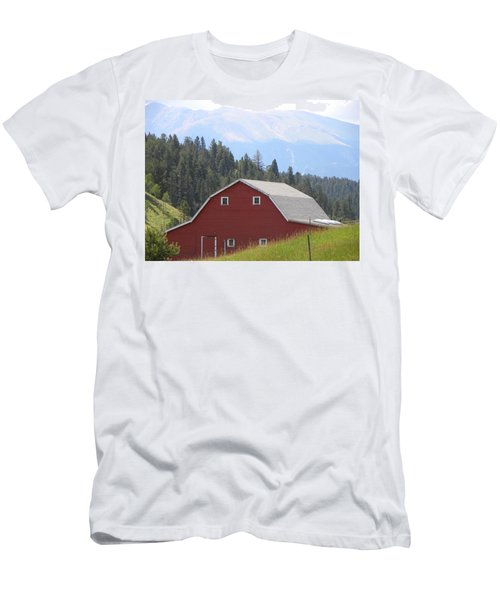 Men's T-Shirt (Athletic Fit) featuring the photograph Barn - Pikes Peak Burgess Res Divide Co by Margarethe Binkley