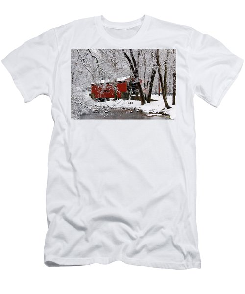 Red Covered Bridge Winter 2013 Men's T-Shirt (Athletic Fit)