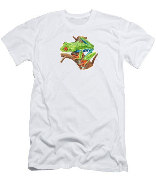 Red-eyed Treefrog Men's T-Shirt (Slim Fit) by Cindy Hitchcock