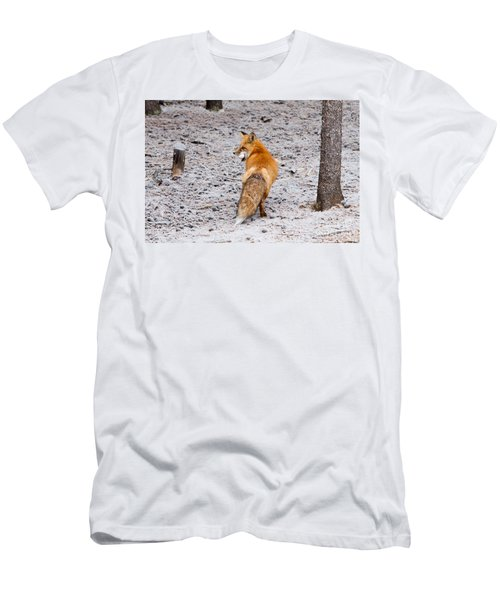 Men's T-Shirt (Athletic Fit) featuring the photograph Red Fox Egg Thief by John Wadleigh