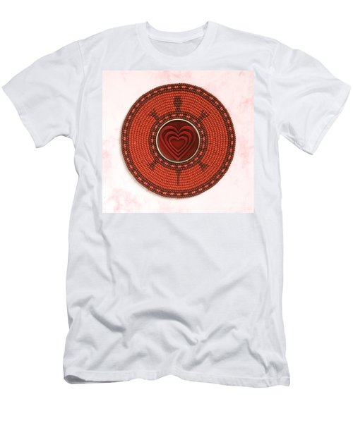 Red Heart Turtle Men's T-Shirt (Athletic Fit)