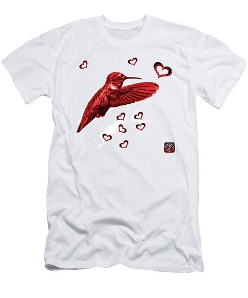 Red Hummingbird - 2055 F S M Men's T-Shirt (Athletic Fit)