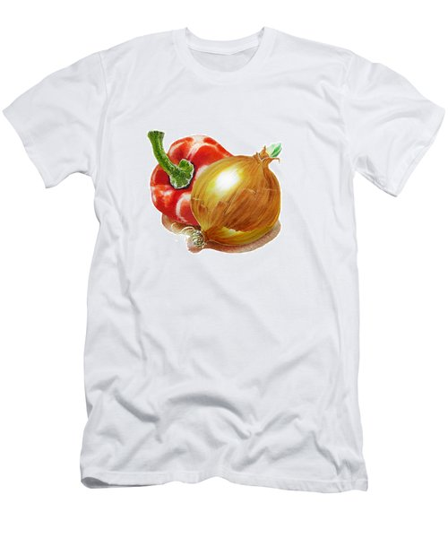 Red Pepper And Yellow Onion Men's T-Shirt (Athletic Fit)