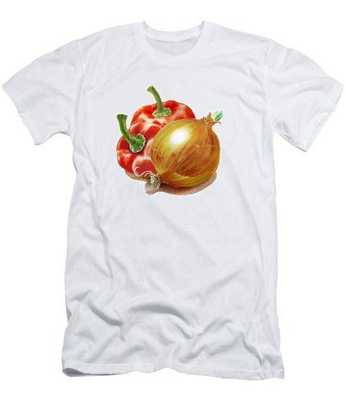 Red Peppers And Onion Men's T-Shirt (Athletic Fit)