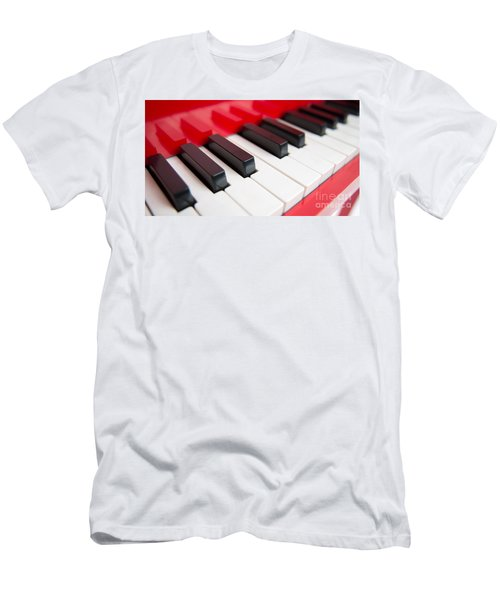 Red Piano Men's T-Shirt (Athletic Fit)