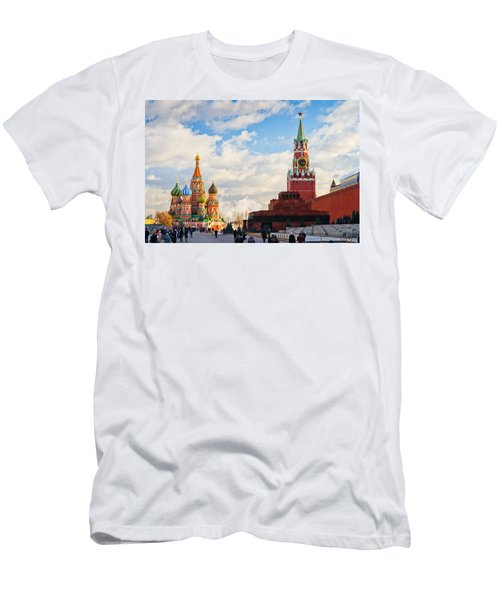 Red Square Of Moscow - Featured 3 Men's T-Shirt (Athletic Fit)