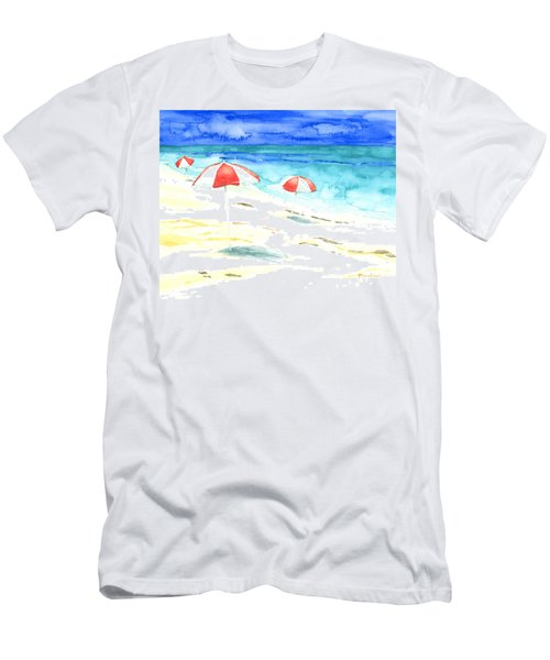 Red Stripes Men's T-Shirt (Athletic Fit)