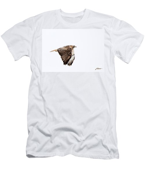 Red Tail In Flight Men's T-Shirt (Athletic Fit)
