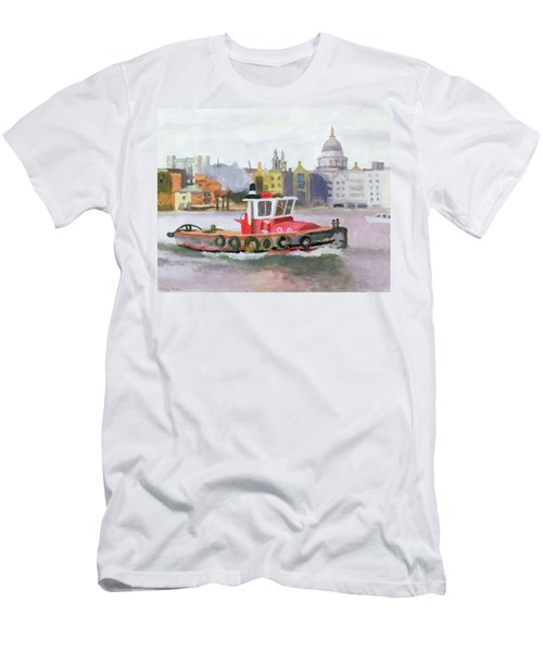 Red Tug Passing St. Pauls, 1996 Men's T-Shirt (Athletic Fit)