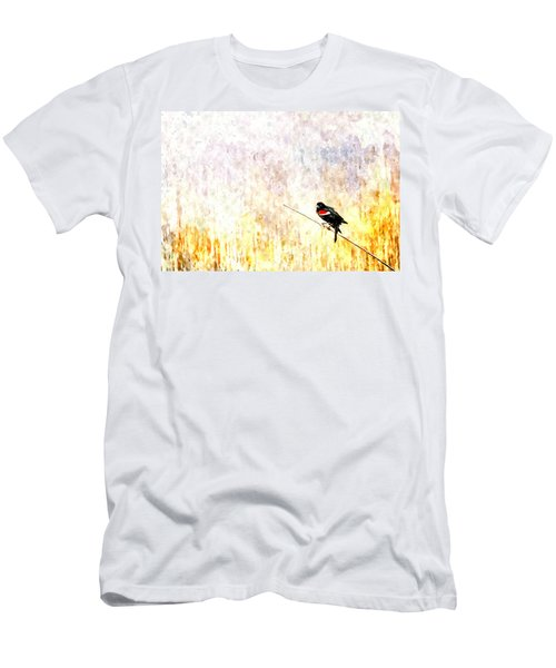 Red Wing Blackbird 2 Men's T-Shirt (Athletic Fit)