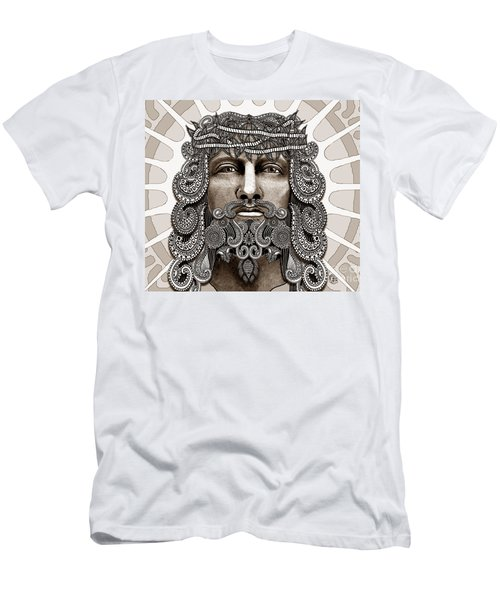Redeemer - Modern Jesus Iconography - Copyrighted Men's T-Shirt (Slim Fit) by Christopher Beikmann