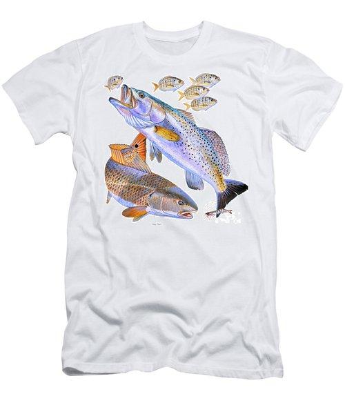 Redfish Trout Men's T-Shirt (Athletic Fit)