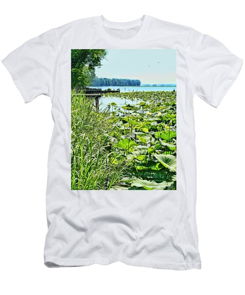 Reelfoot Lake Lilly Pads Men's T-Shirt (Athletic Fit)