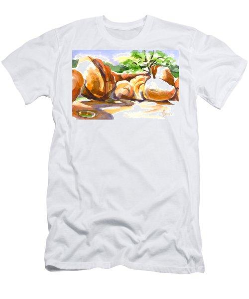 Reflections At Elephant Rocks B Men's T-Shirt (Athletic Fit)