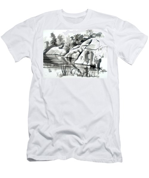 Reflections At Elephant Rocks State Park No I102 Men's T-Shirt (Athletic Fit)