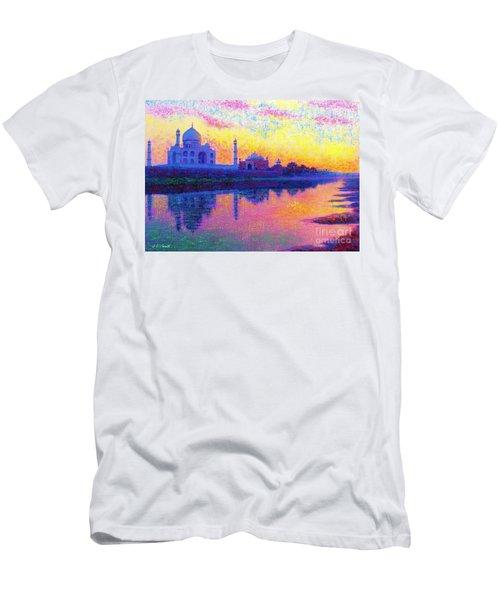 Taj Mahal, Reflections Of India Men's T-Shirt (Athletic Fit)