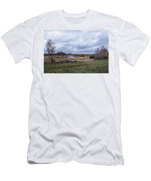 Men's T-Shirt (Athletic Fit) featuring the photograph Refuge No 1 by Belinda Greb