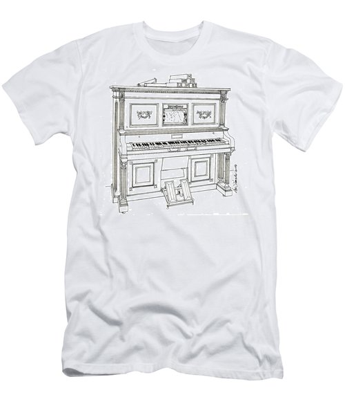 Regina Player Piano Men's T-Shirt (Slim Fit) by Ira Shander