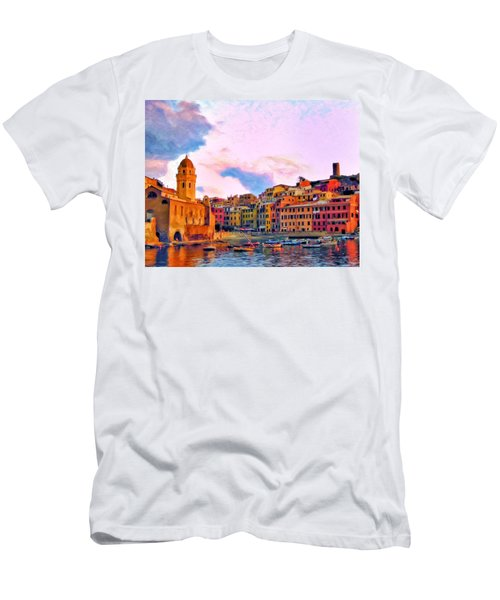 Relaxing Around Vernazza Men's T-Shirt (Athletic Fit)