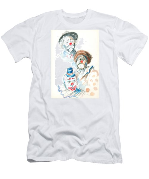 Men's T-Shirt (Slim Fit) featuring the painting Remember The Clowns by Mary Armstrong