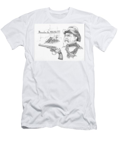 Remember The Maine Men's T-Shirt (Slim Fit) by Scott and Dixie Wiley