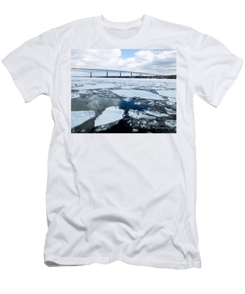 Rhinecliff Bridge Over The Icy Hudson River Men's T-Shirt (Athletic Fit)