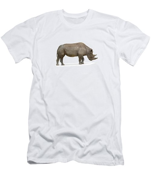 Men's T-Shirt (Slim Fit) featuring the photograph Rhinoceros by Charles Beeler