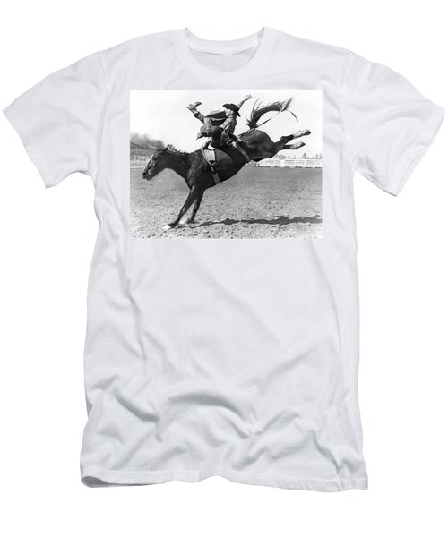 Riding A Bucking Bronco Men's T-Shirt (Athletic Fit)