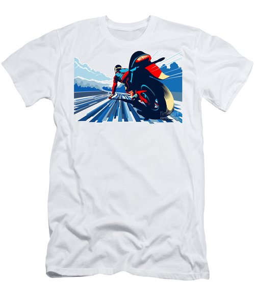 Riding On The Edge Men's T-Shirt (Slim Fit) by Sassan Filsoof